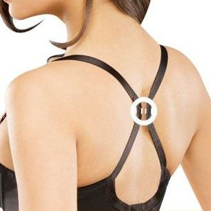 ROUND cleavage enhancer racer back bra clip CLEAR set of 5