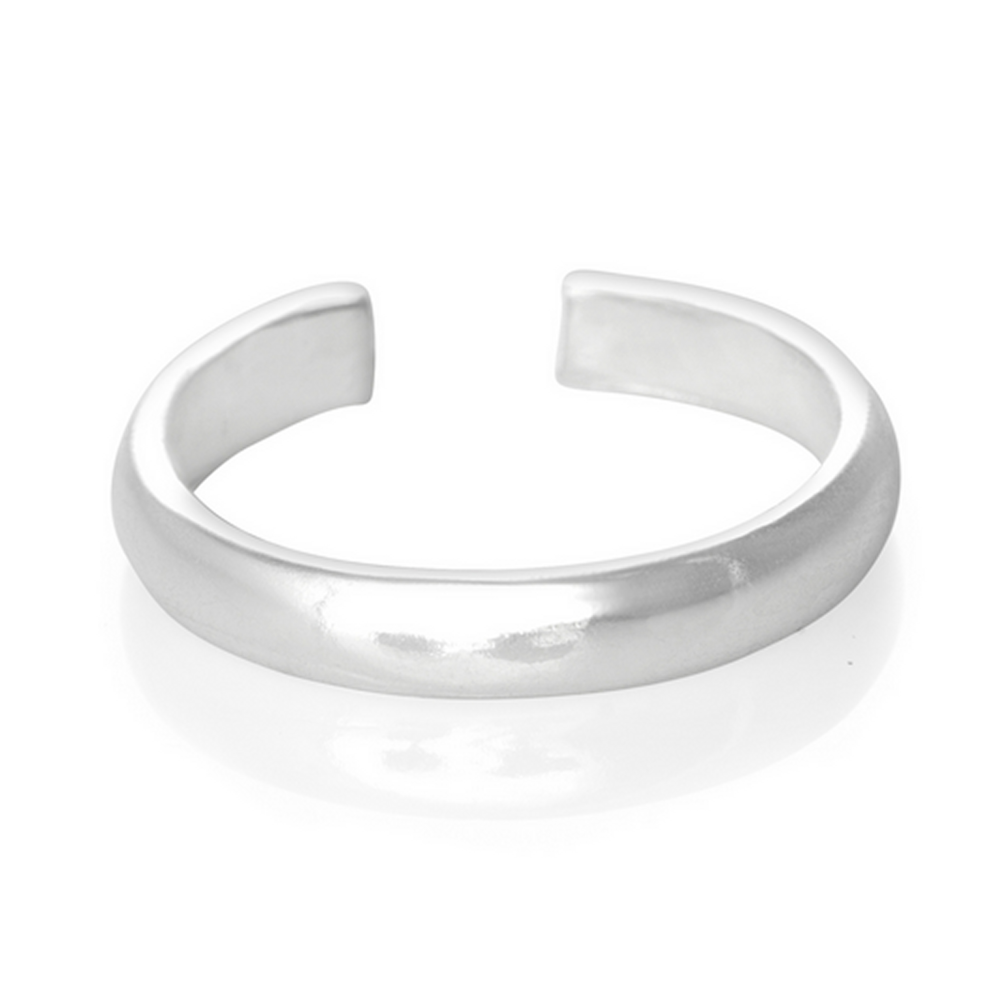 925 Sterling Silver Plain Mid D Band Toe Ring