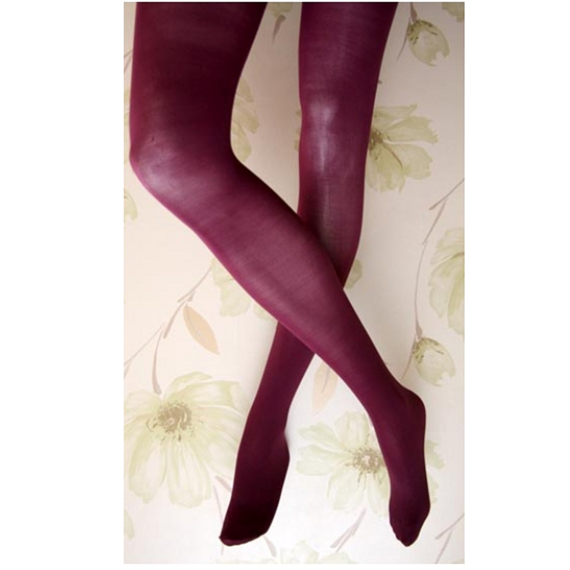 Dorothy Perkins Damson 40 denier Purple Velvet Tights 42 to 46 h