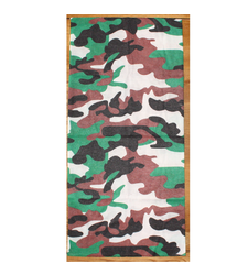 Green Brown White Camouflage Neck Tube Snood Scarf