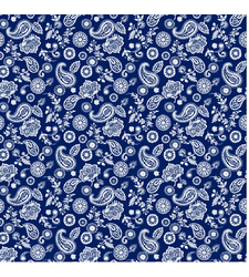 Blue White allover Paisley Cotton Bandana Scarf 22 in Standard