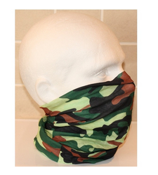 Green Brown Camouflage Neck Tube Snood Scarf