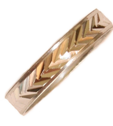 Silver Metal Thumb Half Ring Herringbone Costume Jewellery