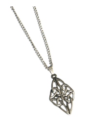 Celtic Diamond shaped Knot Pendant on Chain