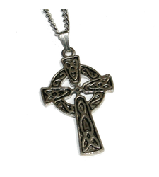 Celtic Cross in Circle Pendant on Chain