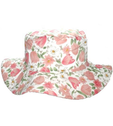 Ladies Wide brim floral bush sunhat 56cm Medium