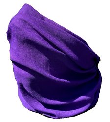 Neck Tube Snood Scarf Face Cover Plain Purple