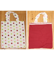 Double Sided Beach Tote Bag Handmade Cotton