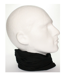Plain Black Tube Snood Scarf Multifunctional Headwear