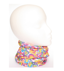 Rainbow Hearts Neck Tube Snood Scarf