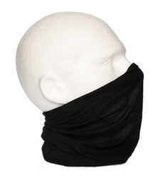 Neck Tube Snood Scarf Face Cover Plain Black