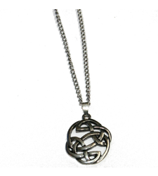 Celtic Round Knot Pendant on Chain