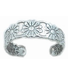 925 Sterling Silver Daisy Flower Toe Ring