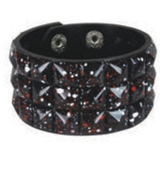 BLACK PAINT SPLATTER pyramid stud studded wristband strap