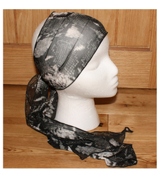 Black Faux Snakeskin Pattern Sheer Scarf