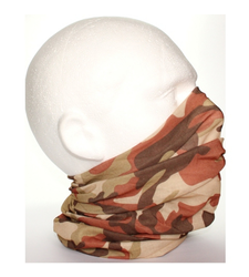 Brown White Camouflage Neck Tube Snood Scarf