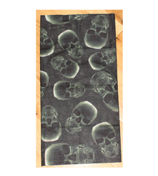 Neck Tube Snood Scarf X Ray Green Skulls