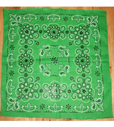 Extra Large Cotton Bandana Scarf Texas Pattern Green Black