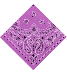 light PURPLE round western BLACK and WHITE paisley bandana scarf