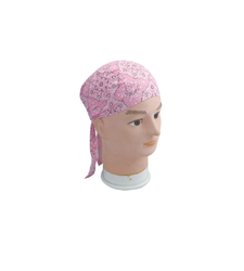 Pale Pink Easy to Tie Bandana Style Headscarf Paisley Pattern