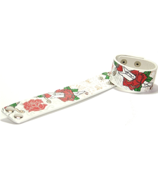 RED ROSE AND DAGGER printed wristband wrist strap