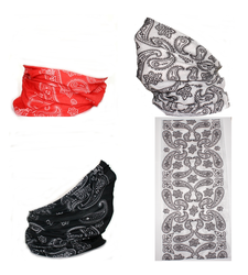 Neck Tube Snood Scarf Set of 3 Paisley Pattern