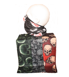 Neck Tube Snood Scarf Set of 4 Skull Biker Themed
