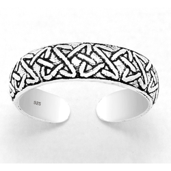925 Sterling Silver Ring for Toe Midi Pinkie Celtic Band