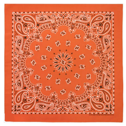 Orange Black White Western paisley bandana scarf Extra Large