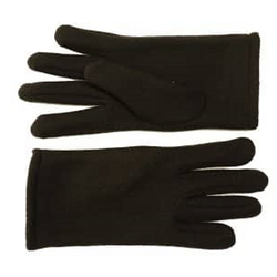 Ladies Felt Fleece Gloves Black