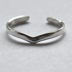 925 Sterling Silver Ring for Toe Midi Pinkie Wishbone