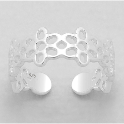 925 Sterling Silver Ring for Toe Midi Pinkie Honey Flower