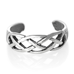 925 Sterling Silver Toe Ring Open Celtic Weave