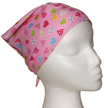 Baby Toddler Cotton Neckerchief Bandana Bib Pink Hearts