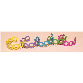 Pack of 5 Multicoloured Metal Toe Rings Thumb Half Finger