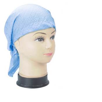 Blue Sparkle No Tie Bandana Headscarf