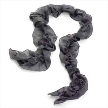 Grey Ruffle Statement Scarf